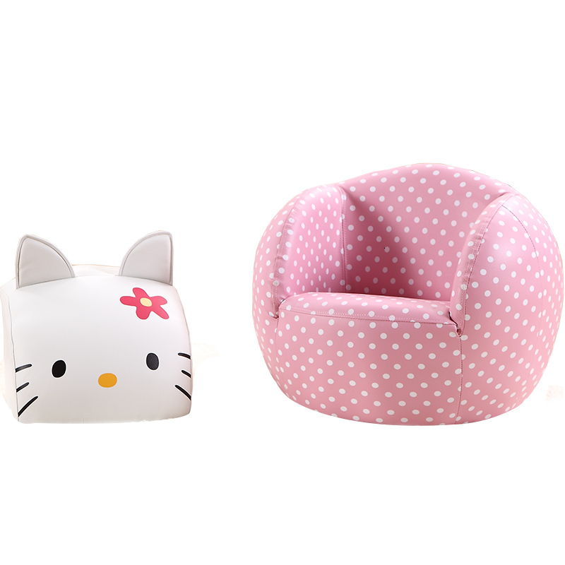 Lovely Pink Kt Cat Cartoon Baby Sofa Chair Bean Bag Zitzak Children Bedroom Child Bed Baby Furniture Assemble Sofa