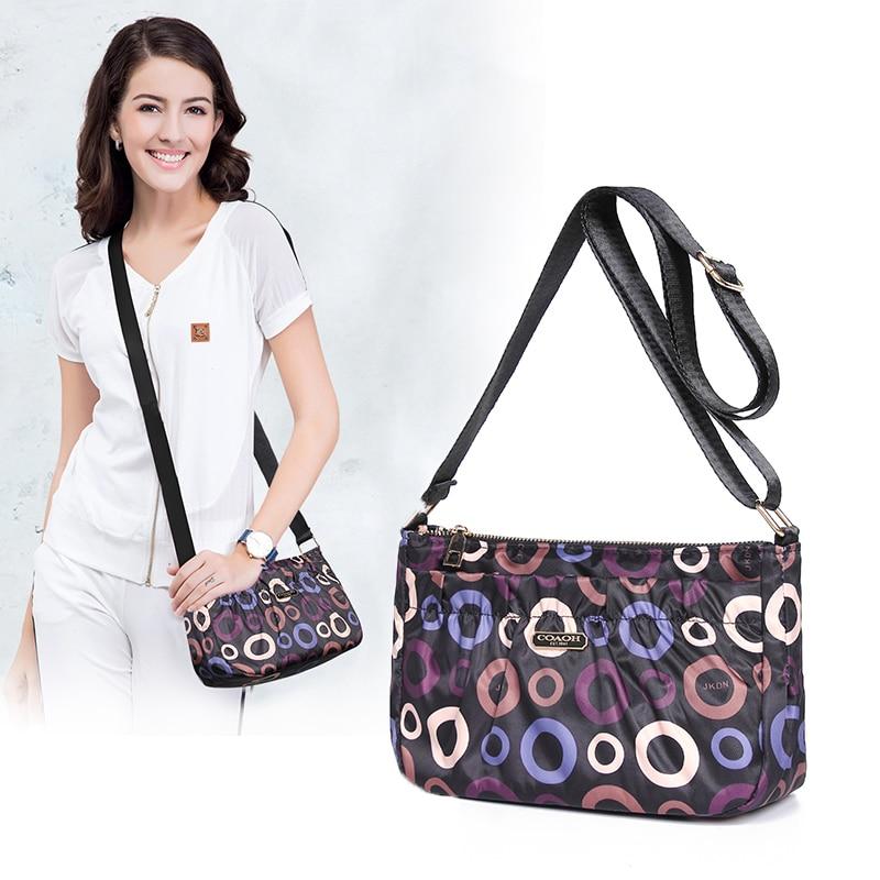 Nylon Women Messenger Bag Multi-Pocket Waterproof Mommy Shoulder Bags Lightweight Multifunction Multi-layer Purse Handbag