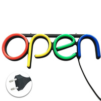 Bar Visual Open Hanging Chain Door Restaurant Wall Store Window Displaying Neon Light Led Decorative Ultra Bright Sign Lamp