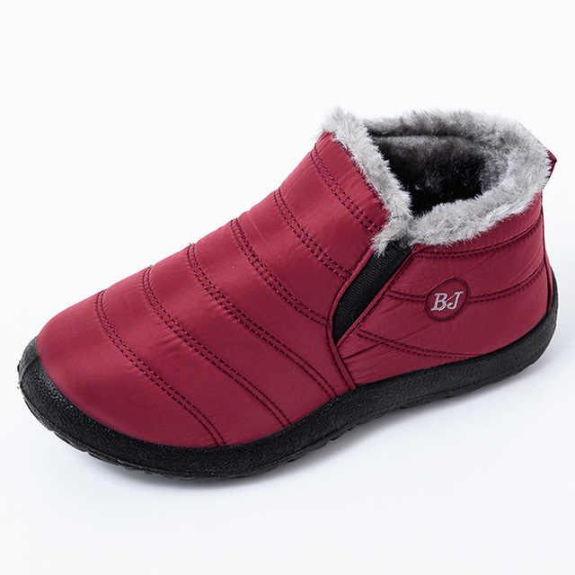 Nieuwe Enkellaars Voor Vrouwen Laarzen Pluche Warme Snowboots Vrouwelijke Winter Schoenen Vrouwen Laarsjes Waterdicht Bota Vrouwen Schoenen Botas mujer