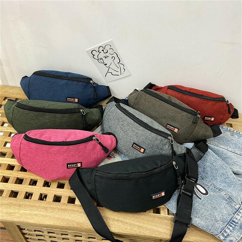 Hot Sale Unisex Large Capacity Waterproof Waist Bag Pouch Zipper Fanny Pack Sports Bags Belly Bag Bum Bag Travel Sports Bag