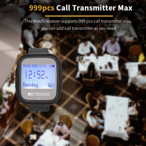Image 5 - Retekess Restaurant Calling System TD106 2pcs Watch Receivers  Wireless Pager Cafe Office Restaurant Equipment Service F9453