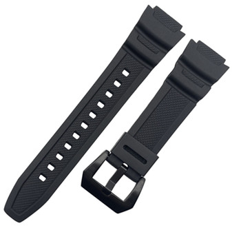 Rubber strap for casio band for SGW-300H 400H 500H MRW-200H AE-1000W AE-1300 AE-1200 W-S200H W-800H W-216H W-735H W-215 AEQ-110W фото