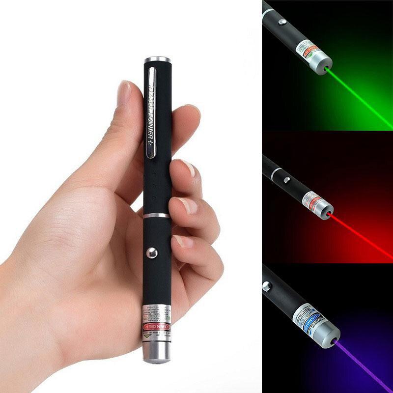 Высококачественная лазерная указка из металлического сплава, 5 мВт, высокая мощность, синий, красный, зеленый горошек, лазерная световая руч... title=