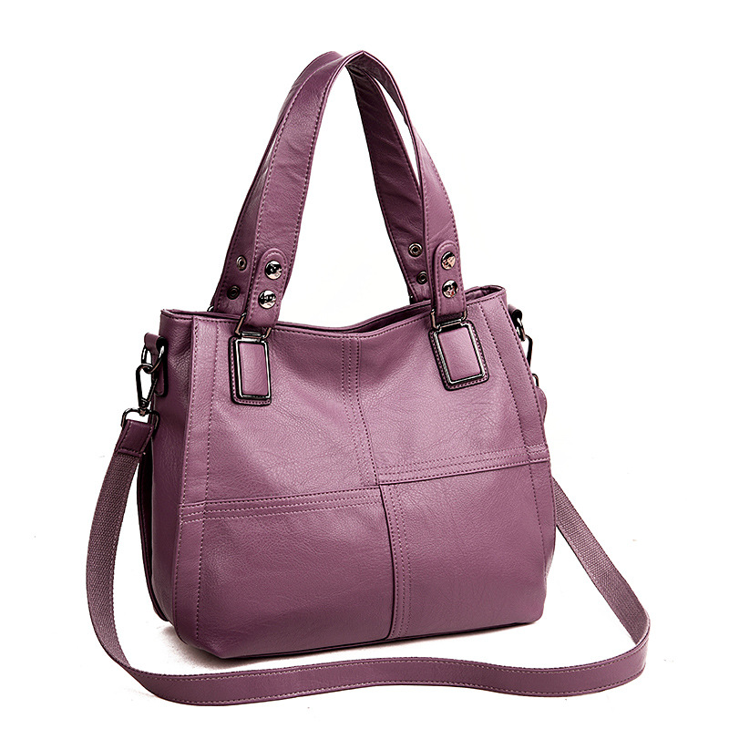 Image 3 - 2019 Luxury Brand Women Leather Handbag 100% Genuine Leather  Casual Tote Bags Female Big Shoulder Bags for WomenShoulder Bags   -