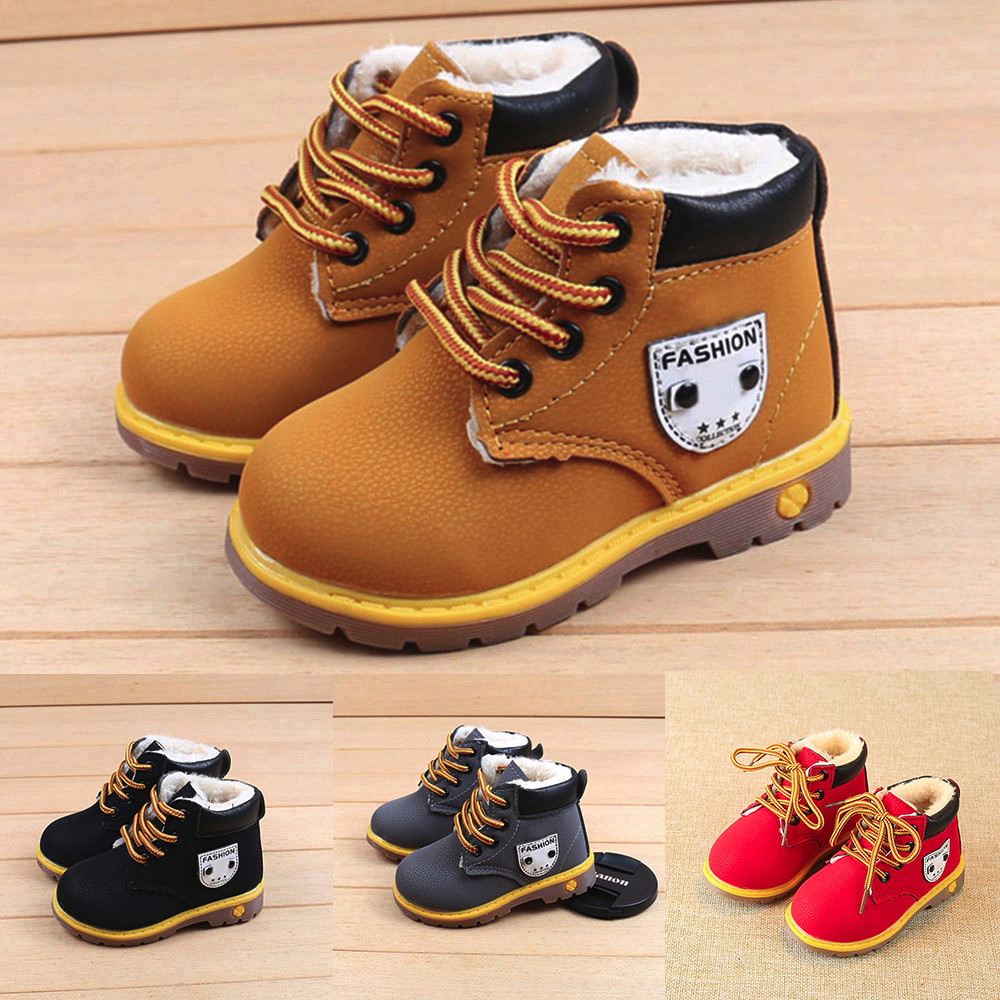 Toddler Girl Winter Boots Baby Children Warm Boys Girls Sneaker Snow Boots Kids Baby Casual Shoes Botas Mujer Invierno 2019