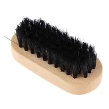 Деревянная ручка щетка для обуви Уход за блестящая Полировка очистка практический инструмент