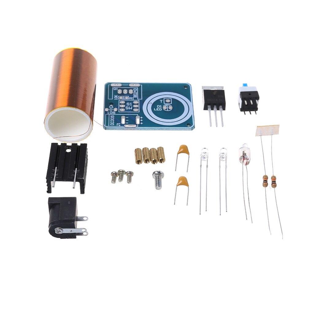 Drop Ship 9-12V BD243 Mini Tesla Coil Kit Electronics DIY Parts Wireless Transmission DIY Board Set