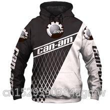 Bombardeiro moda hoodies homens brp can-am hoodie com capuz personalidade moletom masculino motocicleta agasalho pullover 3d impressão polaris hoodie