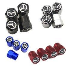 4 шт. Авто клапан для шин кепки стикеры кепки пылезащитный колпачок для шины для mazda 3 mazda 6 CX-5 CX5 Artzma 6 Автомобильные аксессуары