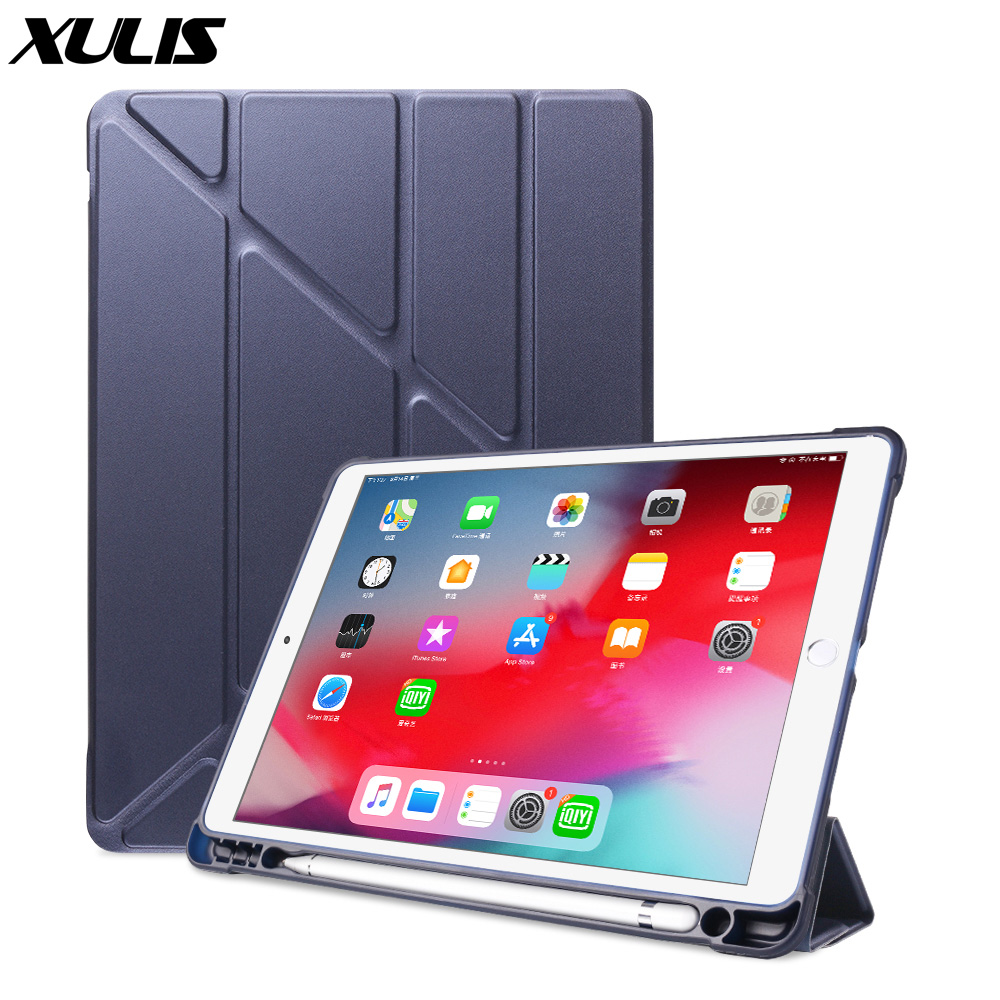 For iPad 10.2 2019 Air 3 2 1 Case with Pencil Holder For iPad 9.7 2018 6th 7th Generation Case For iPad Pro 11 10.5 Mini 5 Funda(China)