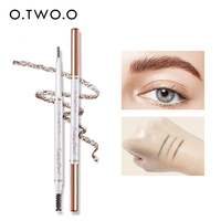 O.TWO.O Eyebrow Pencil Waterproof Eyebrow Makeup Triangle Eyebrow Pen Dark Brow Pen With Eyebrow Brush 3 Colors Eyebrow Cosmetic