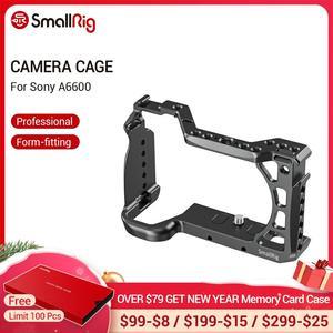 Image 1 - SmallRig A6600 מצלמה כלוב עבור Sony A6600 Dslr כלוב עם קר נעל Arri חורי איתור חצובה ירי כלוב אבזר 2493
