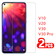 case for huawei honor view v 10 20 30 pro cover tempered glass screen protector on honer v10 v20 v30 protective phone coque bag aurora luminous phone case for huawei honor view v30 v20 v10 night shine bcak cover for honor v30 dazzle colour glass case coque