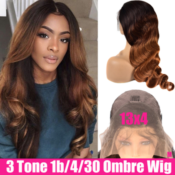 Glueless Brazilian Wigs Body Wave Frontal Wig Pre Plucked Remy Lace Front Human Hair Wigs Ombre Human Hair Wigs For Black Women