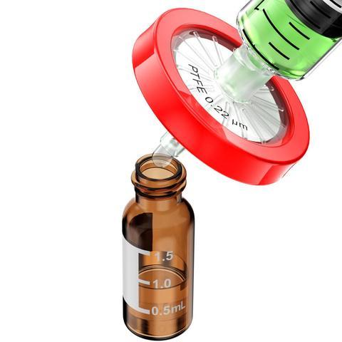 filtros da seringa tamanho do poro