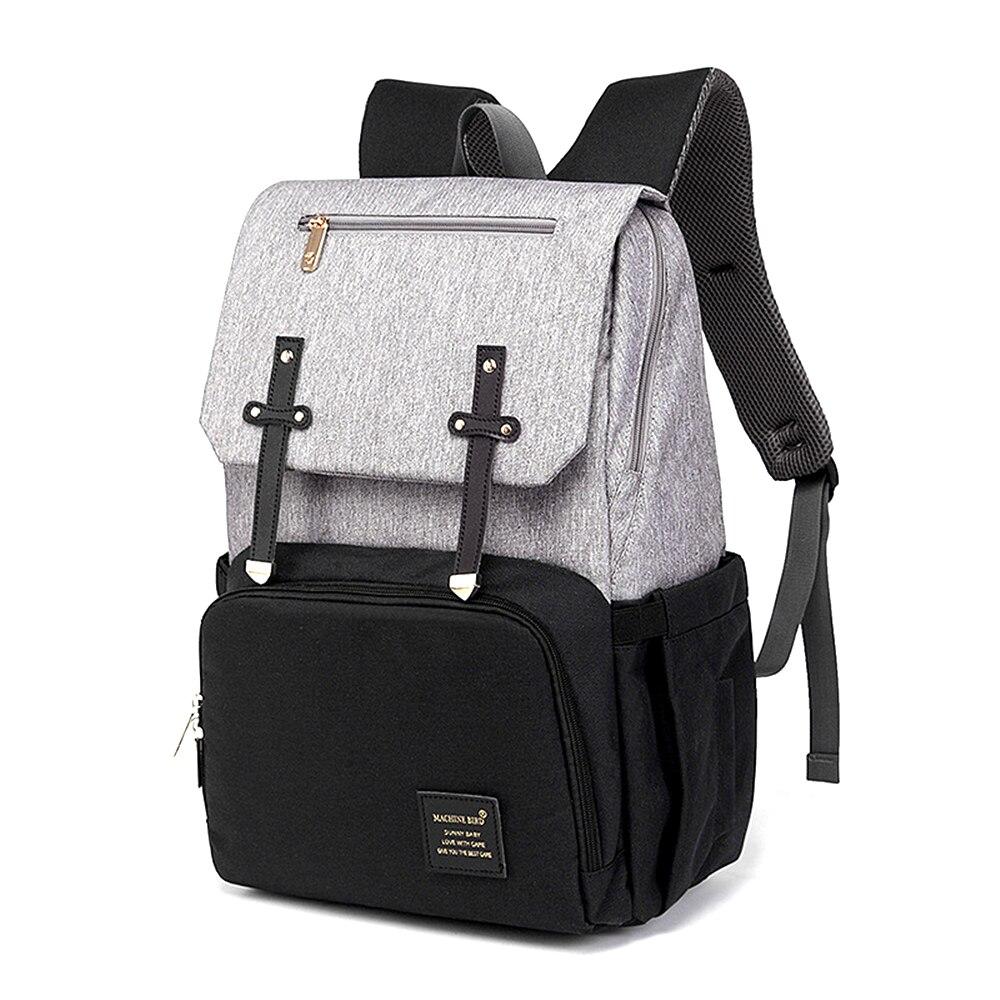 Sac à dos femme avec USB momie papa sac à couches pur grand sac d'allaitement étanche sac à dos de voyage poussette bébé soin Nappy sac