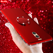 цена на Bling Diamond Case For Meizu M6 Note M5 Note M2 Note M6 M5S Slim Soft Back Cover For Meizu M3 Note + Finger Ring Magnetic Coque