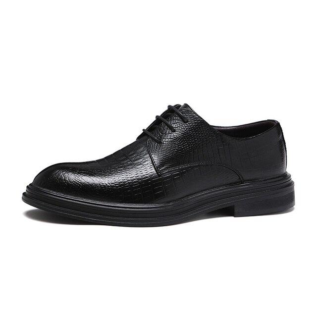 Formele Schoenen Heren Flats Schoenen Casual Britse Stijl Mannen Oxfords Party Trouwjurk Schoenen Voor Mannen