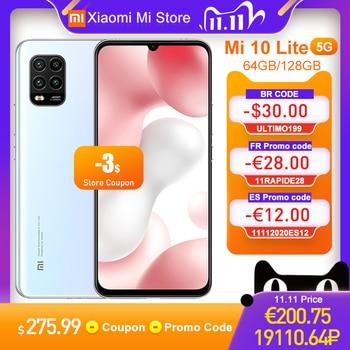 "Global Version Xiaomi Mi 10 Lite 5G Smartphone 6GB 64GB 6.57"" Screen 4160mAh Battery Snapdragon 765G 48MP Cameras NFC"