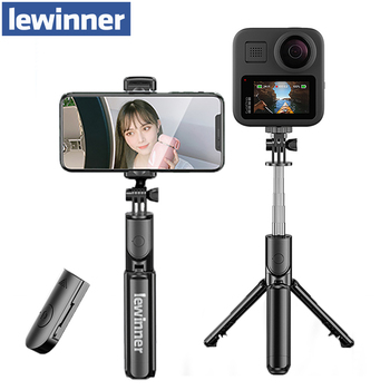 lewinner Wireless Bluetooth Selfie Stick Tripod Foldable Mini Tripod Expandable Monopod with Remote For iPhone IOS Android