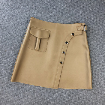 2020 Women Spring Genuine Real Sheep Leather Skirt E23 2020 women spring genuine real sheep leather pants e54