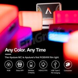 Image 4 - Aputure AL MC MC RGBWW Portable Film Light Full HSI Color Control 3200K 6500K CCT Control Mini RGB Light Sidus Link app