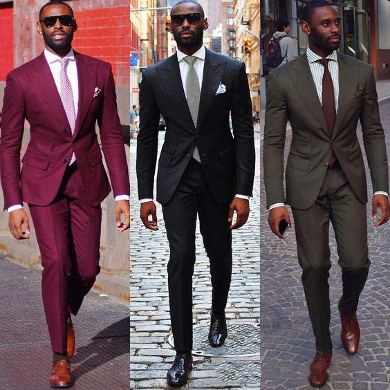 Maroon Grey Black Groom Suits For Wedding Handsome Slim Wedding Tuxedo 2019 Formal Business Outfits Notched Lapel Prom Suit