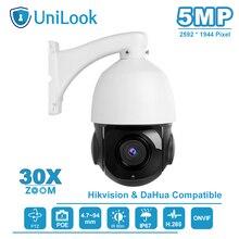 UniLook(Hikvision compatible) 5MP POE PTZ IP Camera 30X Zoom