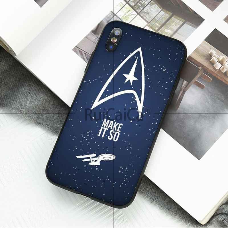 Ruicaica ستار تريك شعار TPU لينة سيليكون غطاء إطار هاتف محمول ل أبل فون 8 7 6 6S زائد X XS ماكس 5 5S SE XR المحمول غطاء
