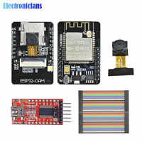 ESP32-CAM módulo WiFi Bluetooth FT232RL FTDI convertidor USB a TTL cable puente de 40 pines OV2640 2MP módulo de cámara para Arduino