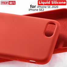 For iPhone SE 2020 Case Liquid Silicone Gel Rubber SE2 Smooth Protective 2nd Mofi Official for Apple se2 Cover