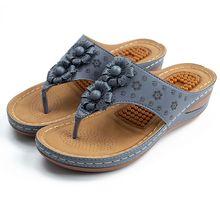 Chaussures pour femmes sandales d'été 2021 mode fleur flip flop couleur uni confortable respirant décontracté plage chaussures grande taille
