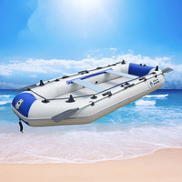 Kayak thickening inflatable boat 2/3/4 person motorboat dinghy fishing boat Durable PVC Rubber Fishing Boat Set with Paddles Pum