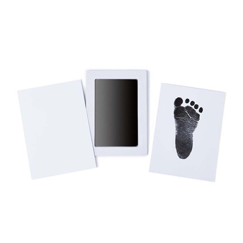 Baby Safe Non-toxic Ink Pads Footprints Handprint Ink Pads Kits Baby Paw Print Pad Baby Shower Foot Print Pad Baby Care Toys