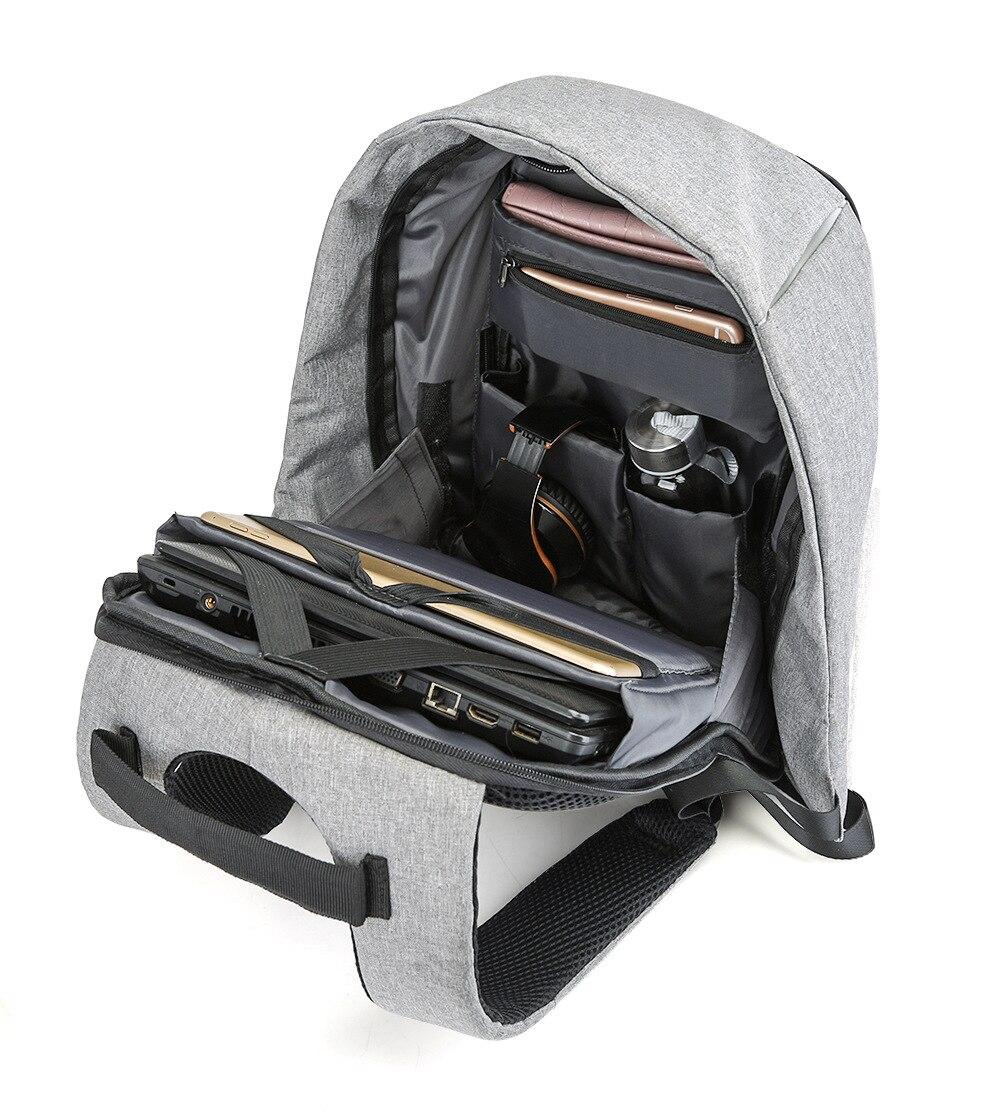 15 pouces sac à dos pour ordinateur portable USB charge Anti vol sac à dos hommes voyage sac à dos étanche sac d'école mâle Mochila - 5