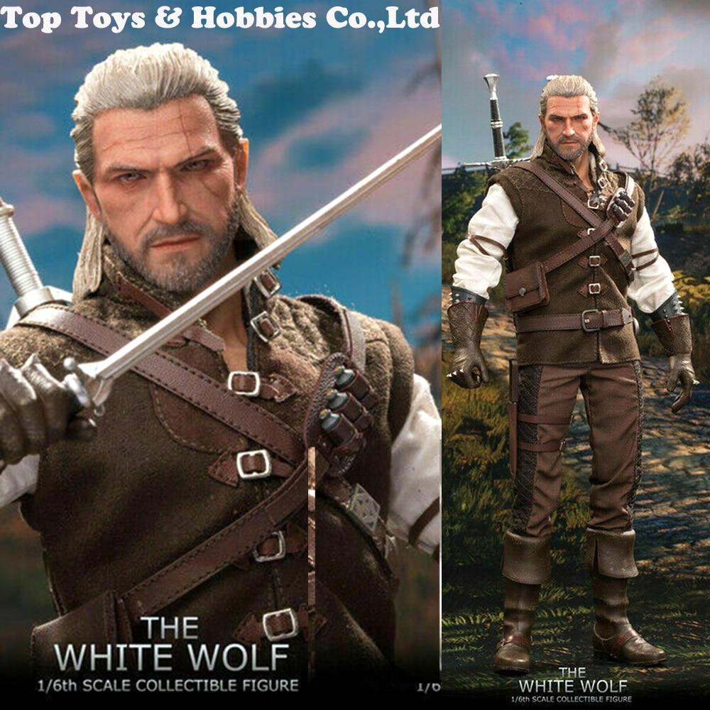 En stock ensemble complet MTTOYS le loup blanc Geralt de Rivia mâle 1/6 Action figurine ensemble modèle poupée pour fans collection jouets
