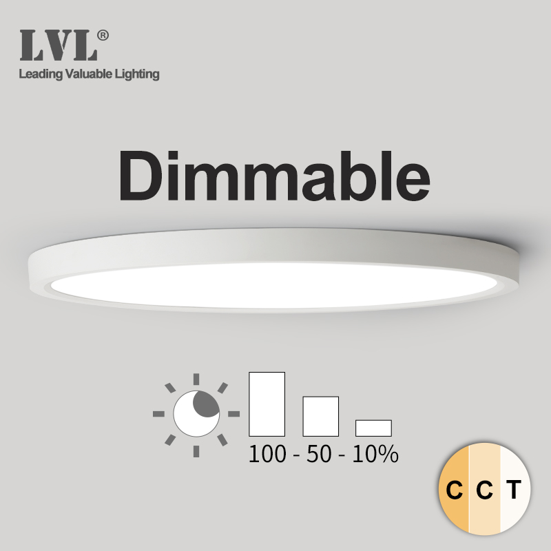 Led-Ceiling-Light Livingroom Dimmable Bathroom Modern 24W 220V 18W 32W 12W with 3-Color