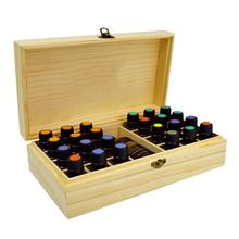25-Grid Wooden Essential Oil Box Holder Bottle Storage  Solid Wood Gift Aromatherapy Bottles Portable Case