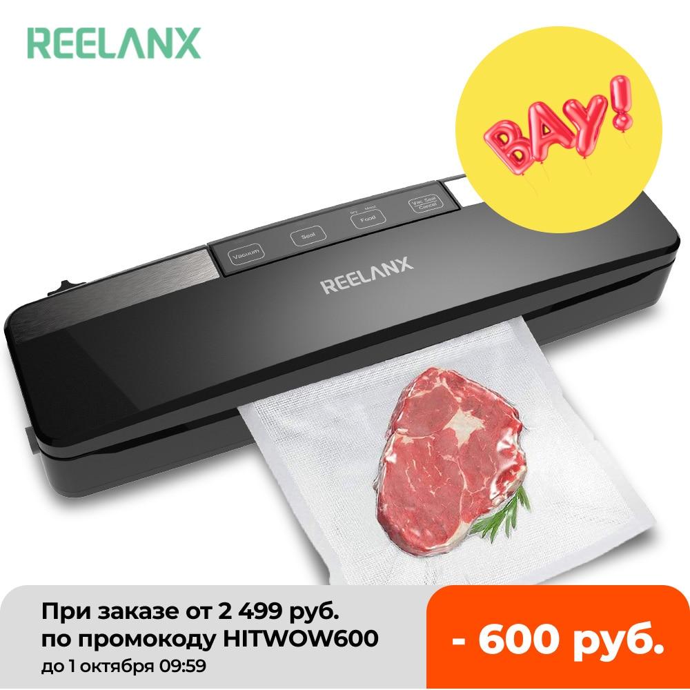 REELANX Vacuum Sealer V2 125W Built in Cutter Automatic Food Packing Machine 10 Free Bags Best Vacuum Packer for Kitchen Vacuum Food Sealers  - AliExpress