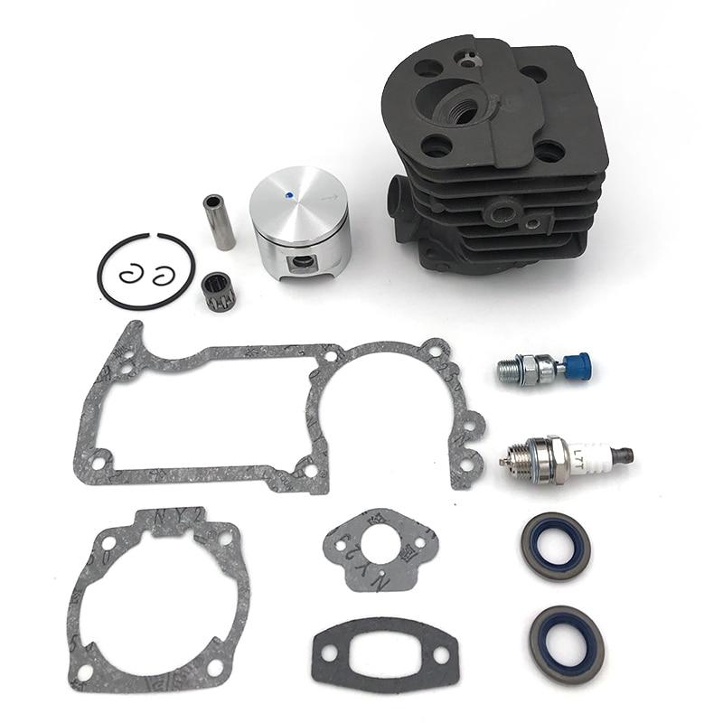 HUNDURE 46mm Cylinder Piston Oil Seal Spark Plug Kit For Husqvarna 51 55 Rancher Chainsaw Parts # 503609171 , 503 60 91-71