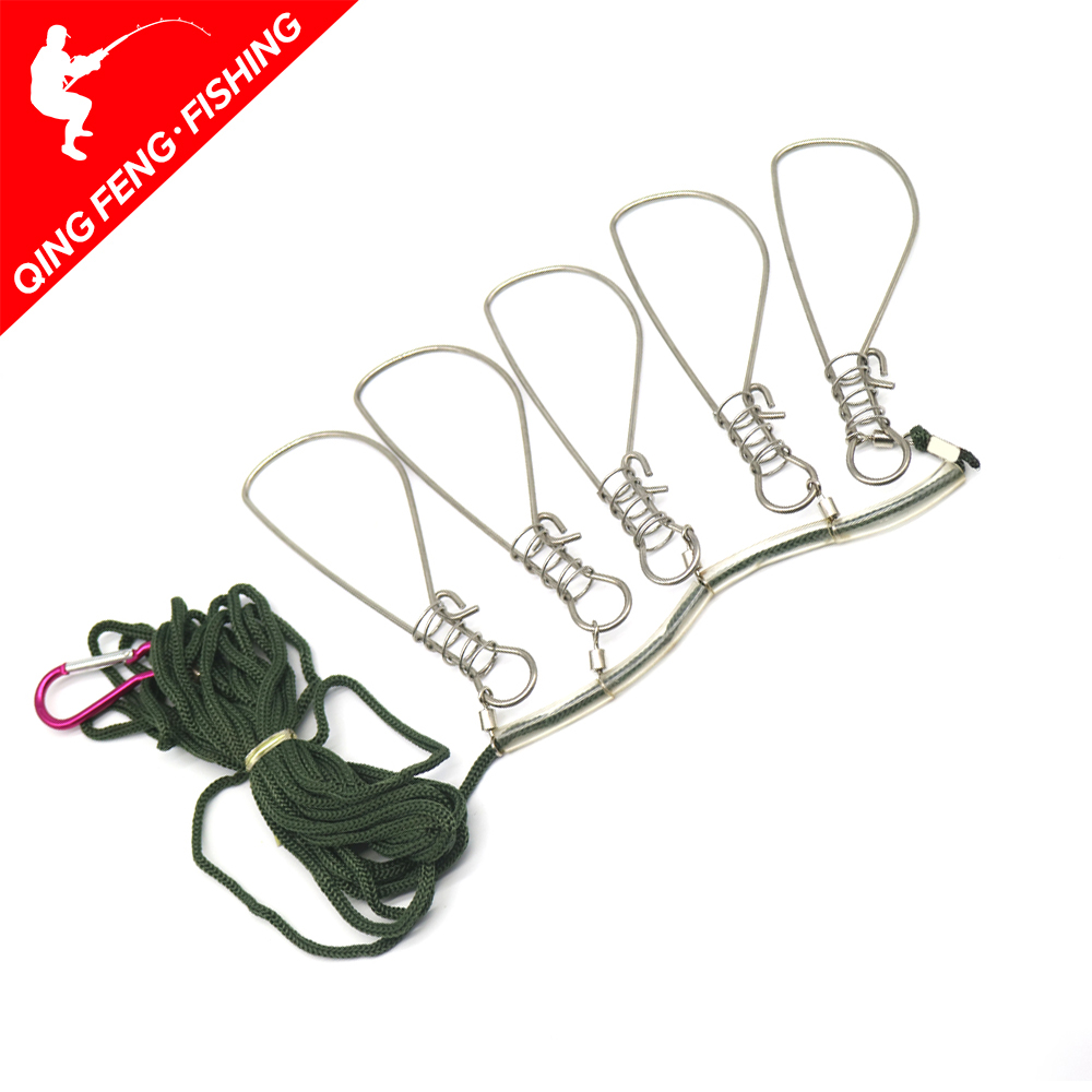 Fishing Lock Buckle Stainless Steel Live Fish Lock Belt Fishing Stringer Fishing Tackle For Accessories