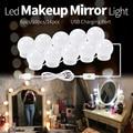 Светодиодный зеркальный светильник USB 12 В  туалетный светильник для макияжа  зеркало для студии  ванной  заполняющий светильник светодиодны...