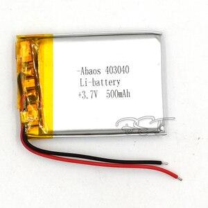 3,7 V полимерная литиевая батарея 403040 перезаряжаемая литий-ионная батарея 500mAh для MP5 навигатора GPS MP3 MP4 Электронная книга динамик камеры