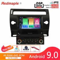7 Android 9.0 autoradio GPS Navigation multimédia stéréo Headunit pour Citroen C4 c-triomphe c-quatre 2004-2009 lecteur DVD automatique