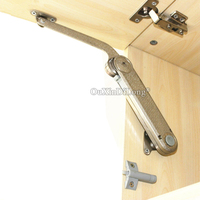 NEW 2PCS Hydraulic Kitchen Cabinet Hinges Cupboard Cabinet Doors Lift Up Randomly Stop Support Rod Gas Spring Furniture Hinges