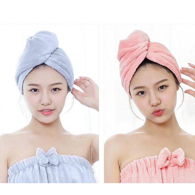 25cm*65cm Microfiber Hair Fast Drying Magic Dryer Towel Bath Wrap Hat Quick Cap Turban Dry new