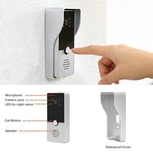 Image 5 - HomeFong וידאו דלת טלפון Wired דלת אינטרקום וידאו ביתי אינטרקום תמיכה תנועה לזהות שיא דלת מצלמה 7 אינץ אינטרקום