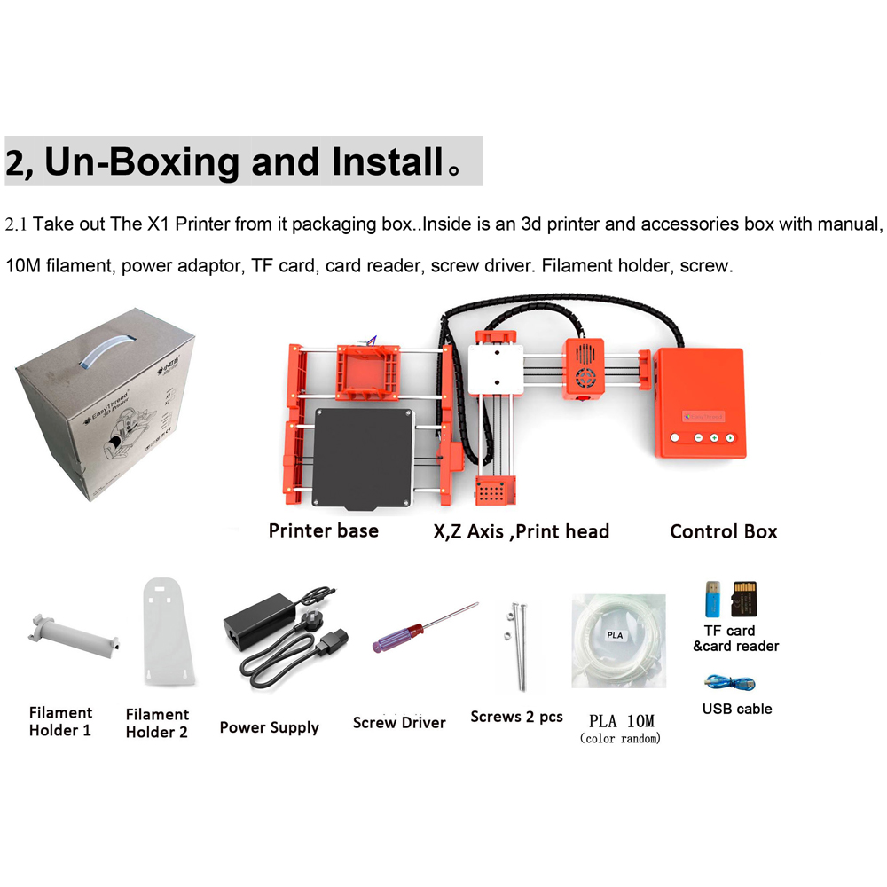 Mini Portable  Kids 3D DIY Printer for Household Education 19