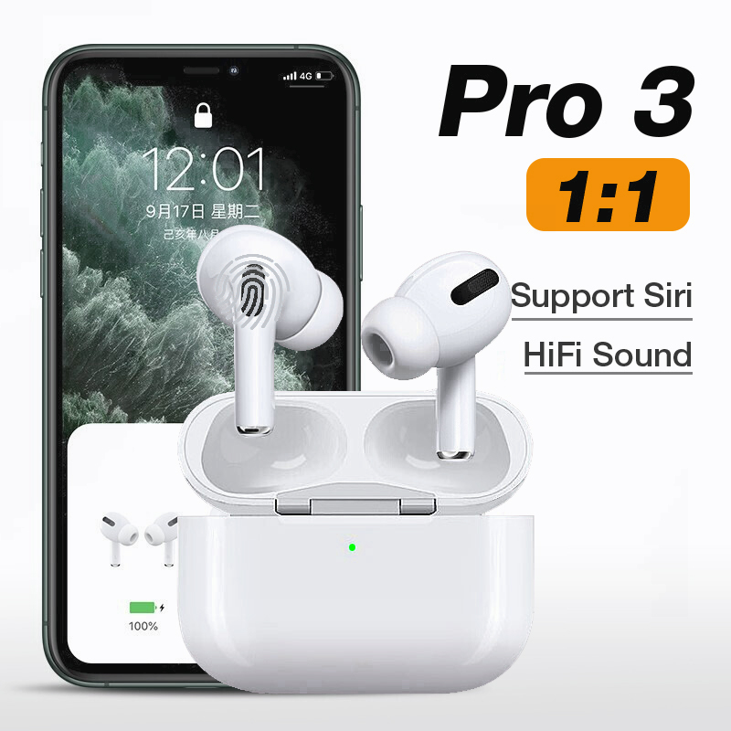 Airpoder Pro 3 Wireless Headset Bluetooth 5.0 Earphone Smart Sensor Aire Earbuds With Free Cover For IPhone Android Airpodding